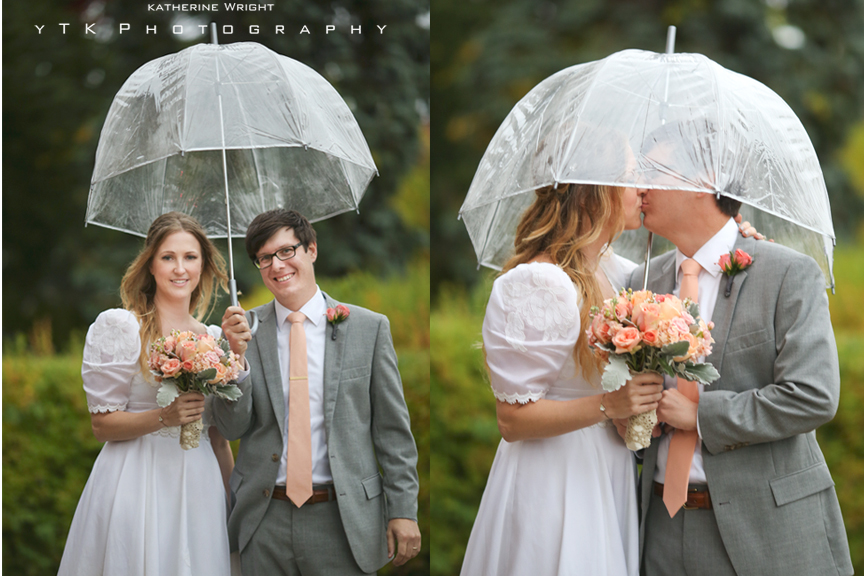Romantic And Rainy Retro Mod Saratoga Wedding
